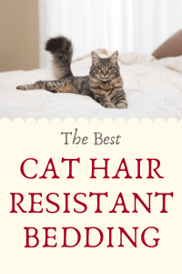 cat hair resistant bedding